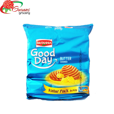 Britannia Good Day Butter Cookies 90g x 8 Value Pack