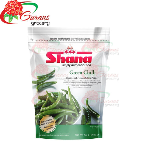 Shana Frozen Green chilli 300 gm