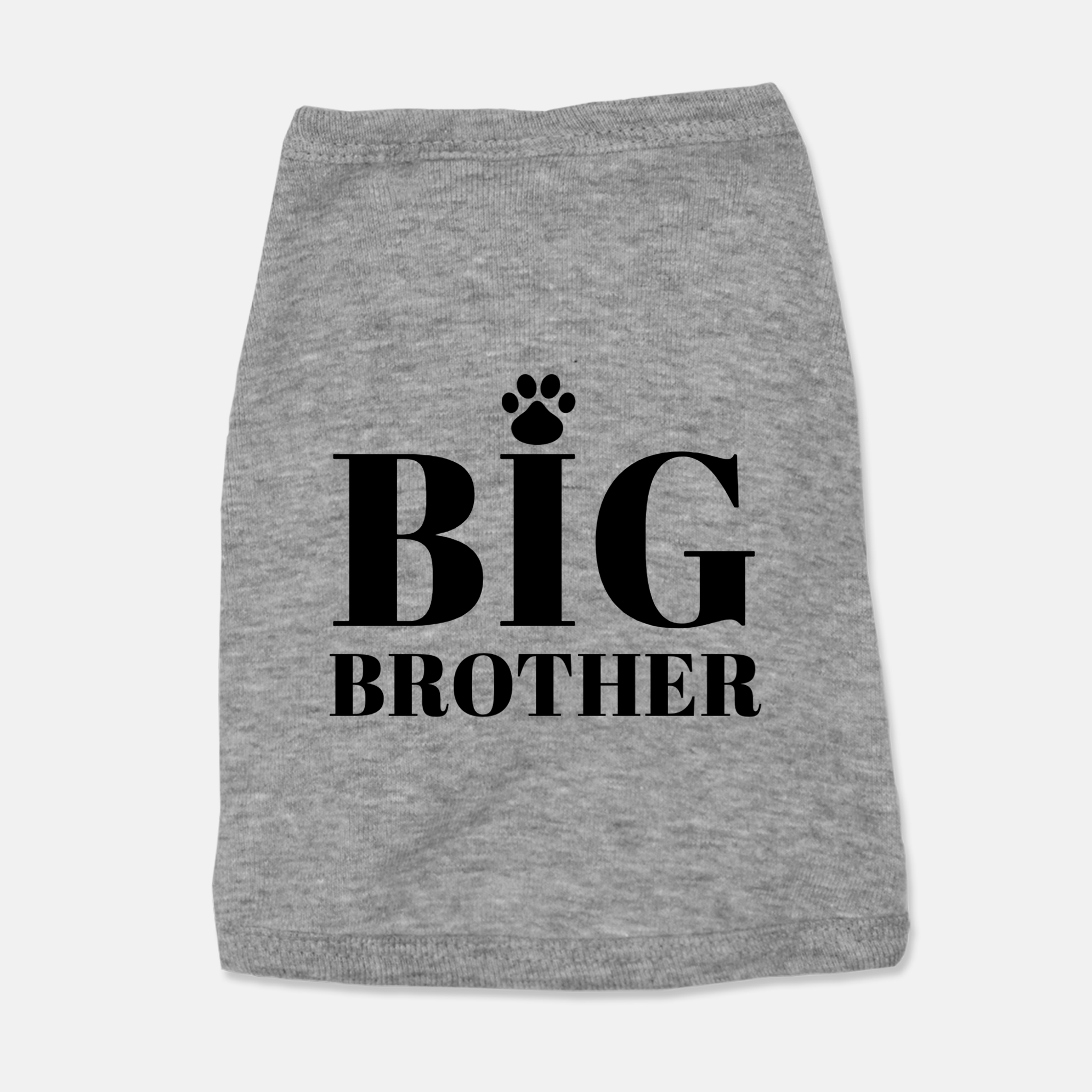 Gray Big Brother Dog Tank Top Shirt by Bark & Luv