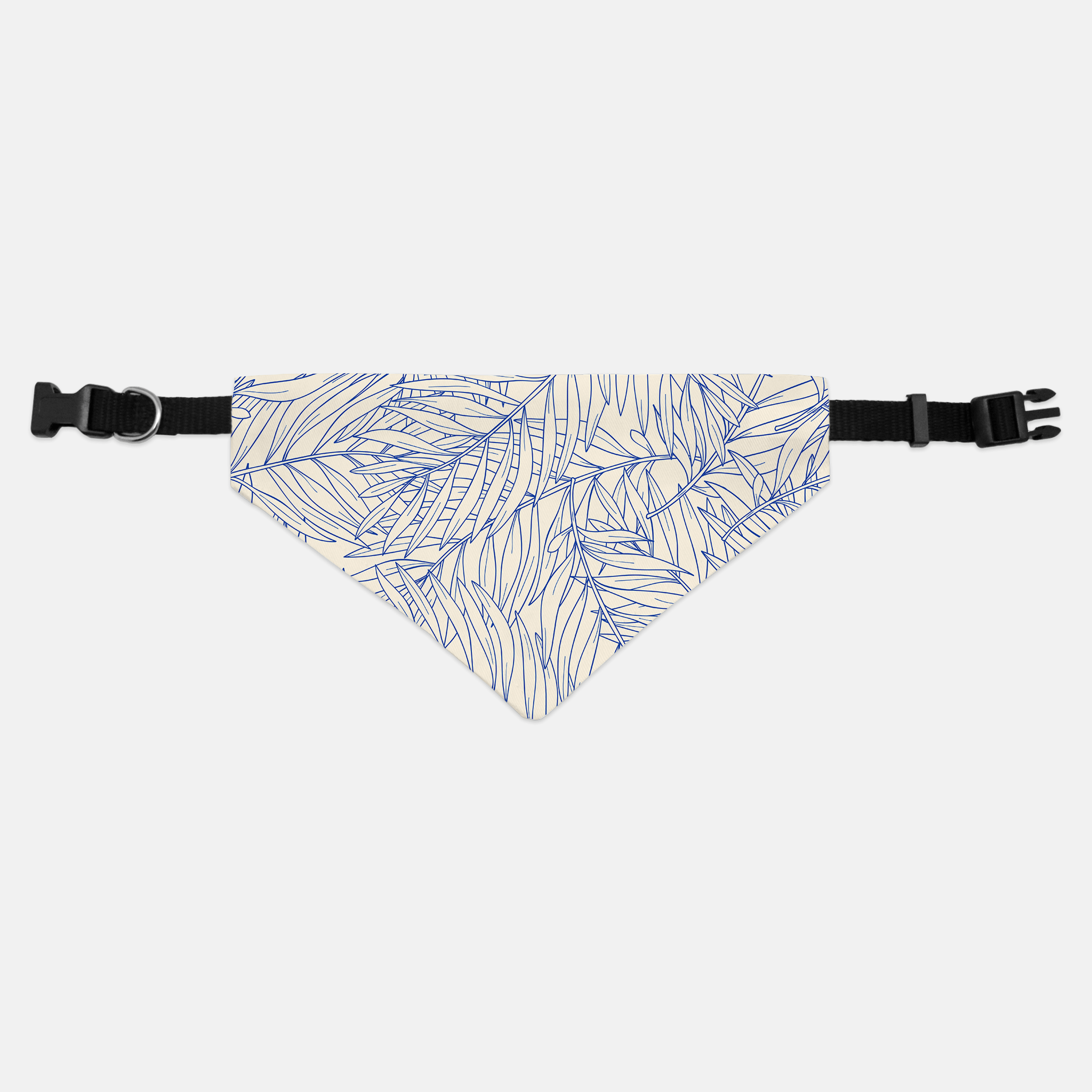 Palm Leaf Tropical Dog Bandana - With or Without Collar