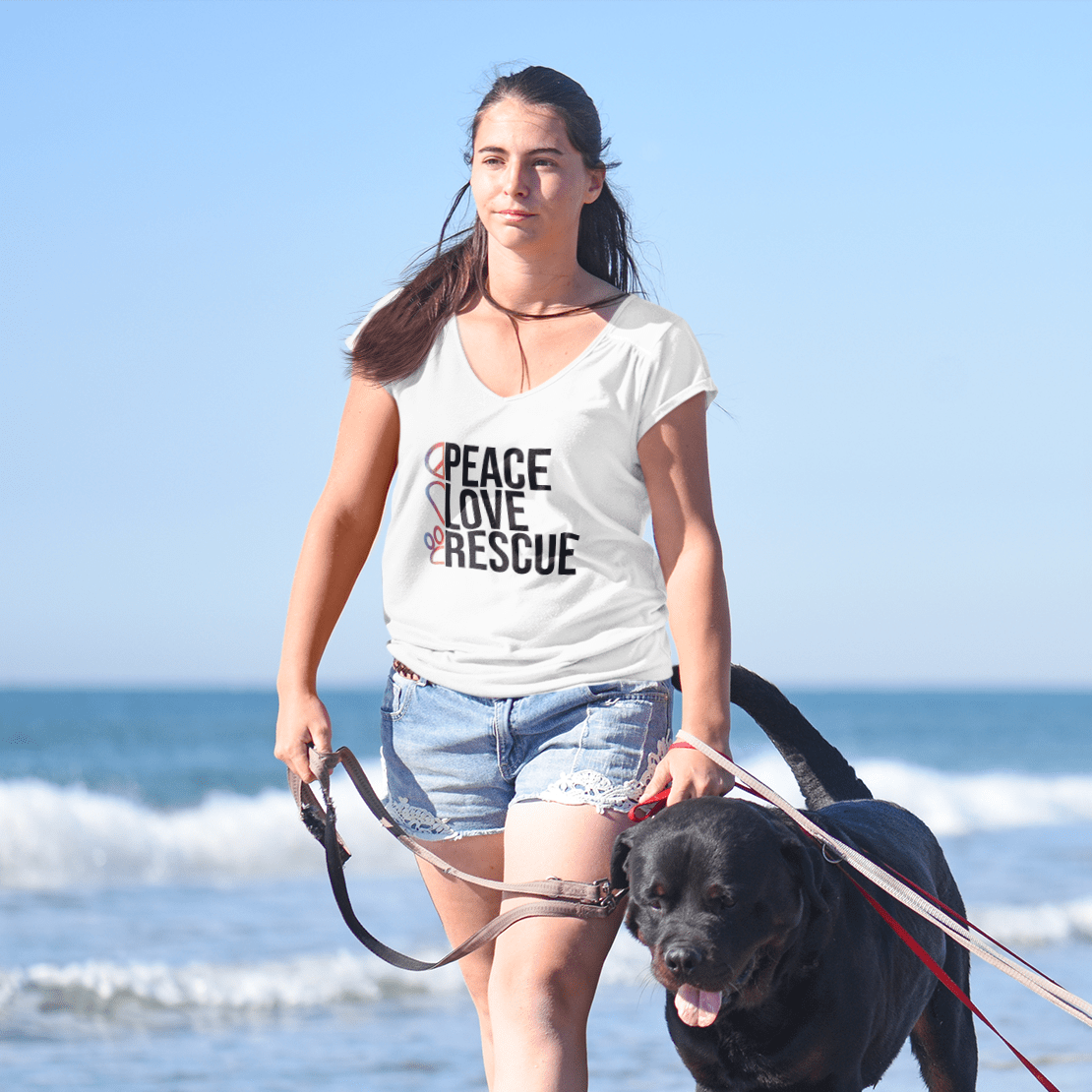 Peace Love Rescue - Short Sleeves Shirt - barkandluv