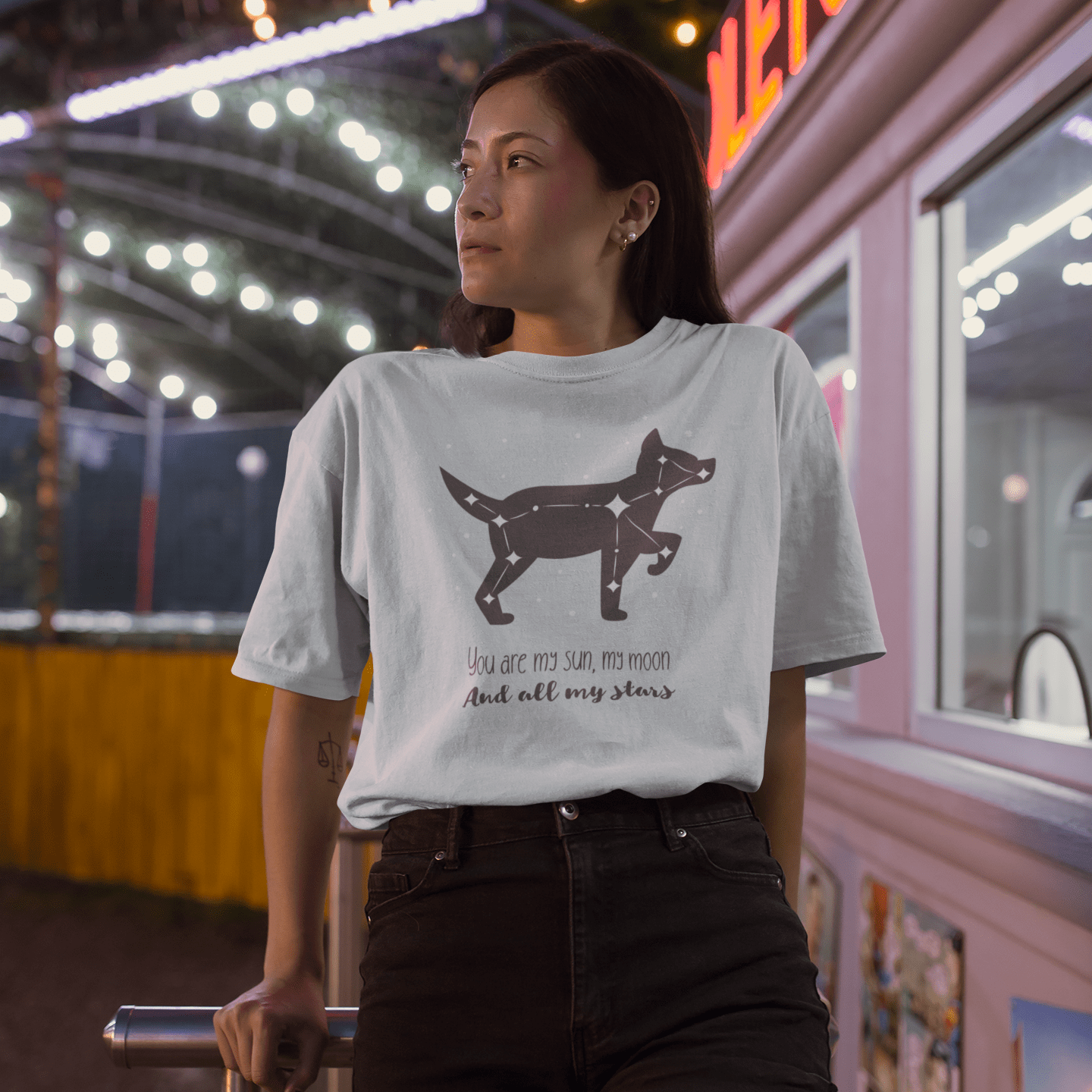 """You Are My Sun, My Moon, And All My Stars"" Dog Short Sleeves Shirt - barkandluv"