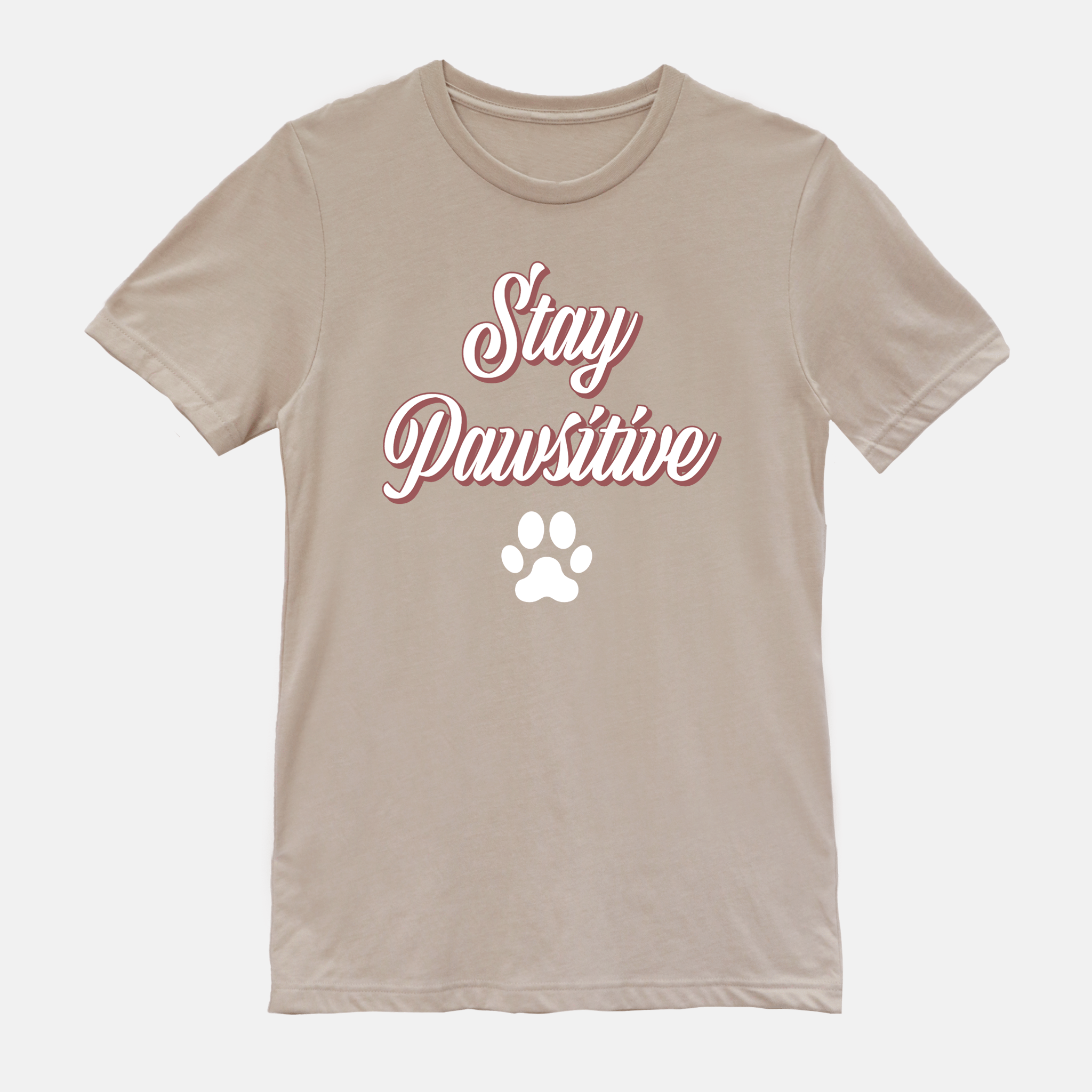 Stay Pawsitive Short Sleeves Shirt