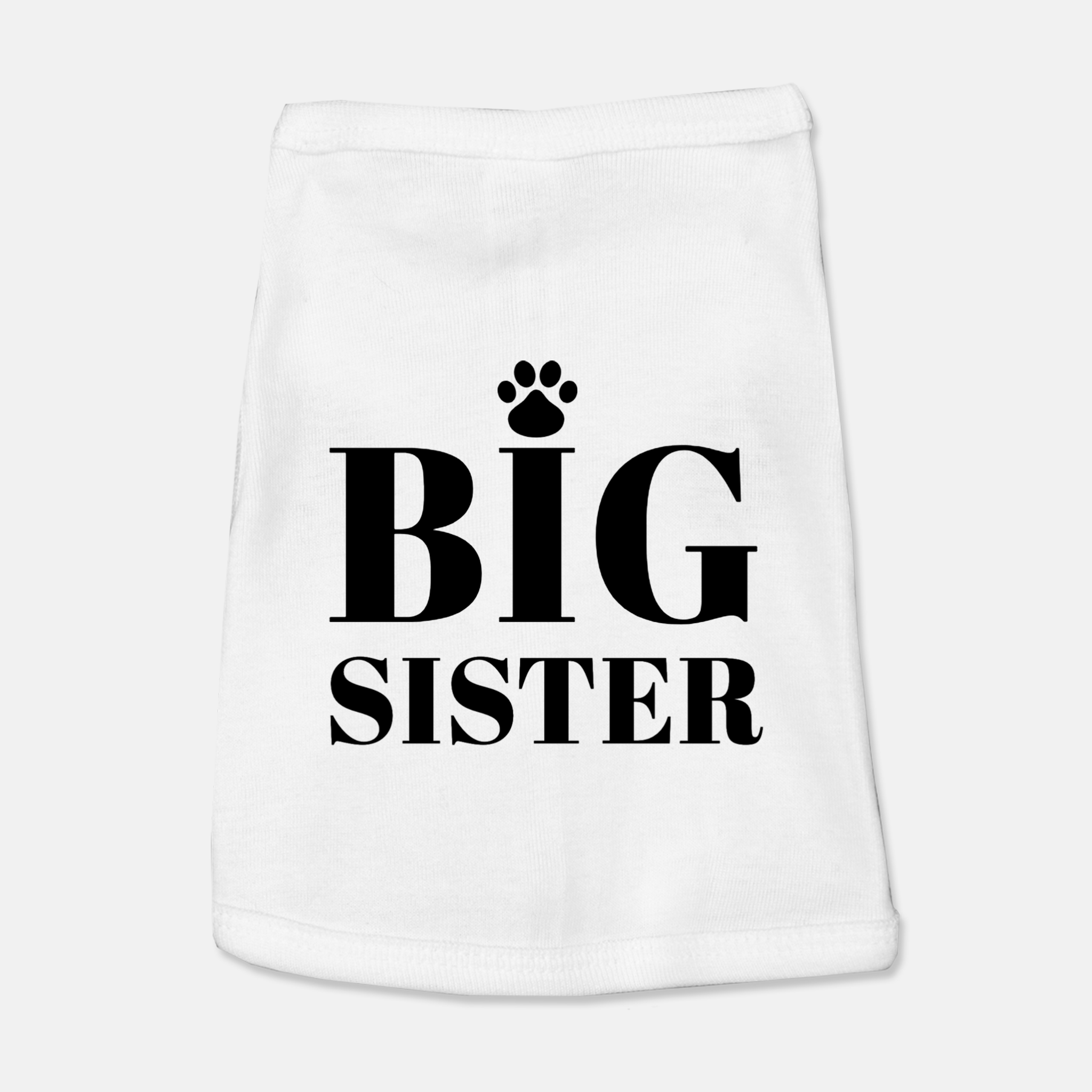 Big Sister Dog Tank Top Shirt