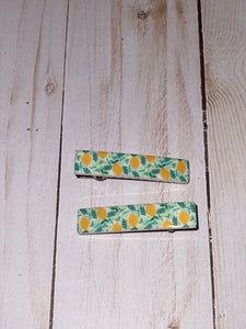 Lemon  Acrylic Alligator Hair Clips