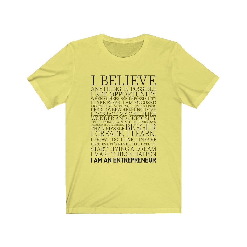 I Believe I Create I Build Short Sleeve Tee