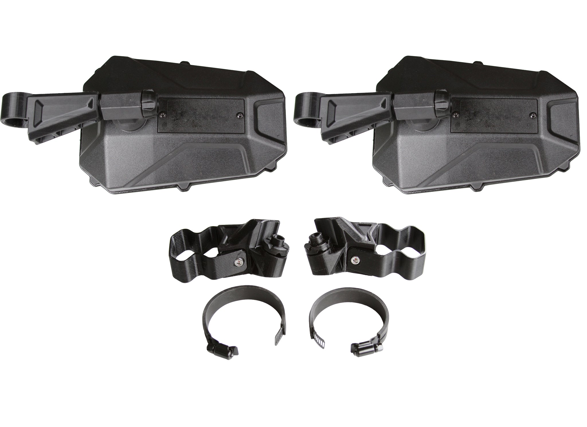 Elite Series 2 Universal Mirror Kit - with Blindspot 2 pack - profiled and round tube mounts included