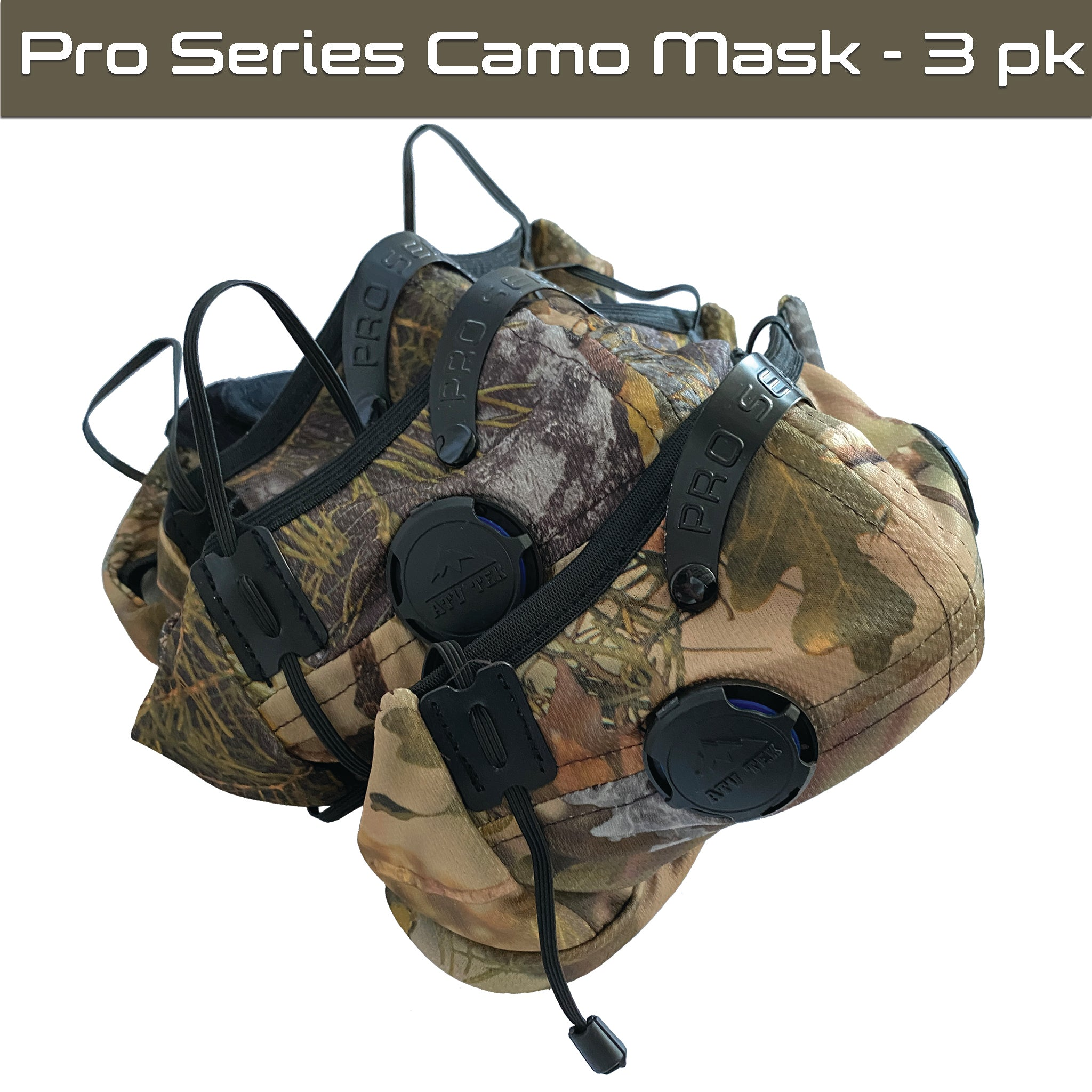 Pro Series Rider & Safety Dust Mask - 3 Pack - Camo