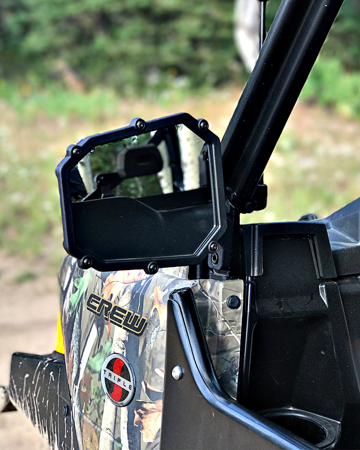 Elite Series UTV Side Mirror w/dual axis breakaway - 2 pack