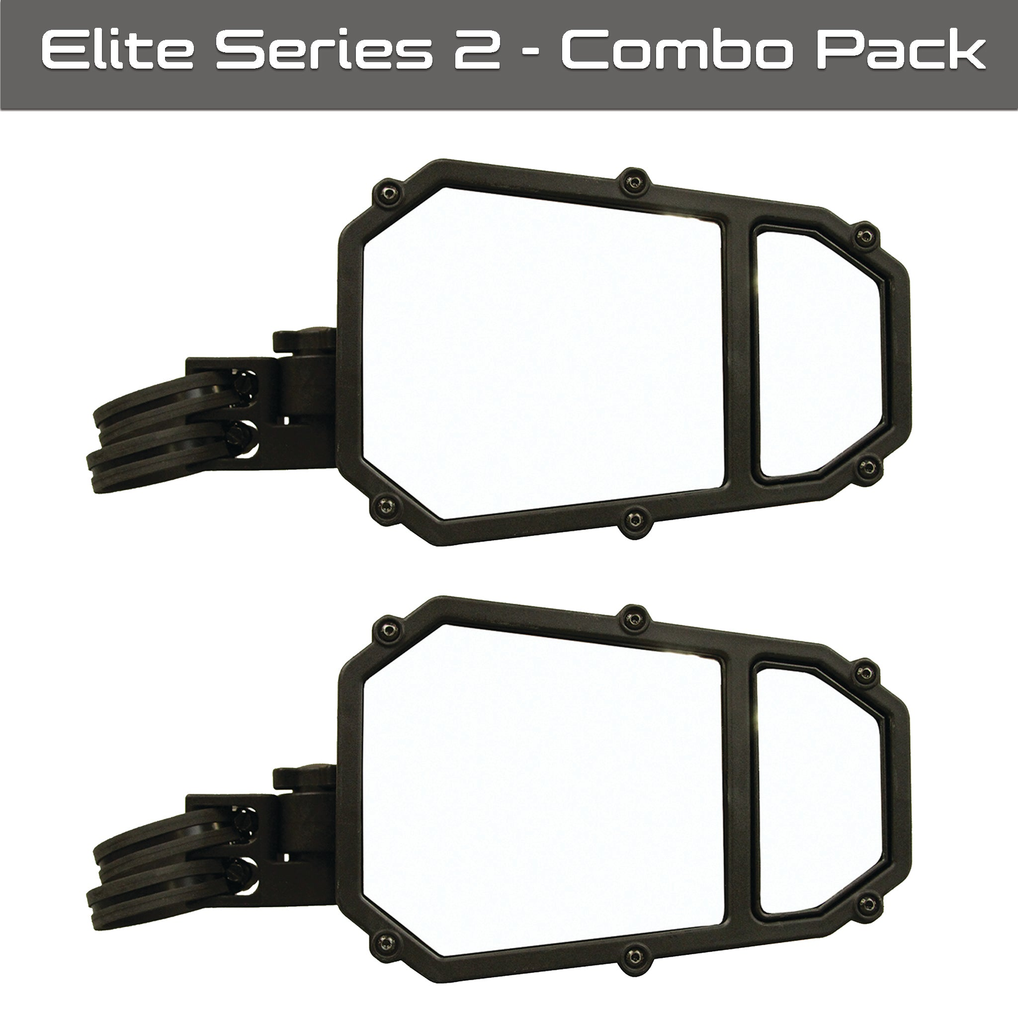 Elite Series UTV Side Mirror w/ blindspot™ & dual axis breakaway - 2 pack
