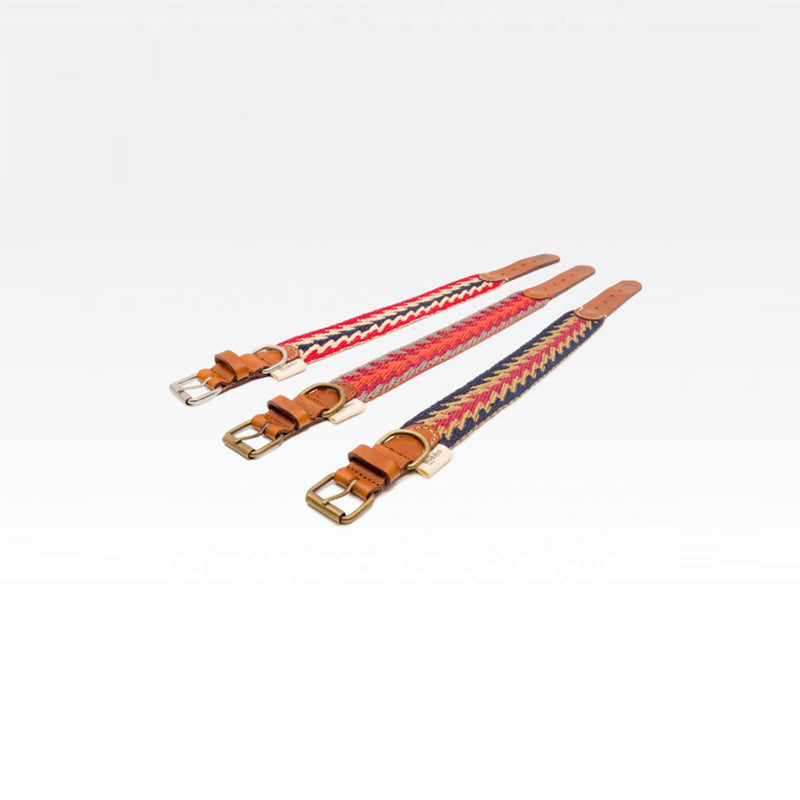 Buddys Hundehalsband Peruvian Arrow Blau, Orange und Rot