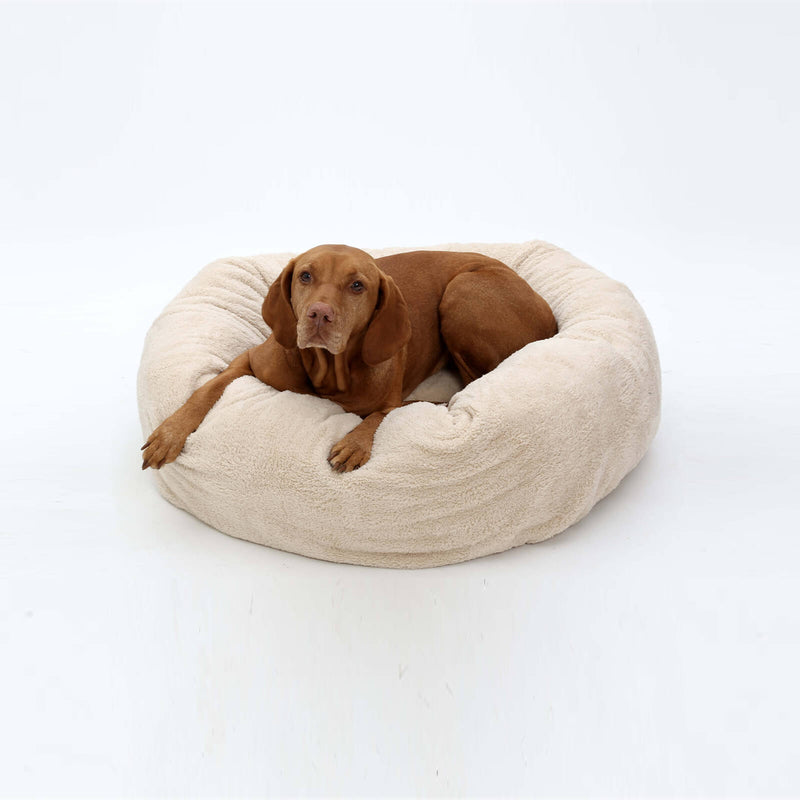 DOGS in the CITY Hundekissen Dognut Kuschelnest | Beige