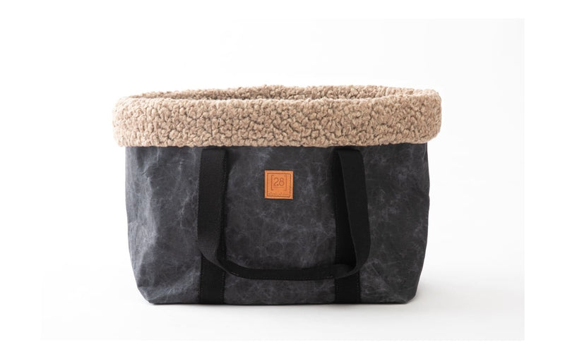 Duepuntootto Hundetasche Dorothea in Waxed Paper mit warmer Boucle-Wool