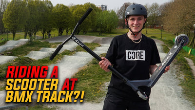 Video: Jamie Hull rides a SCOOTER at a BMX PUMP TRACK?!