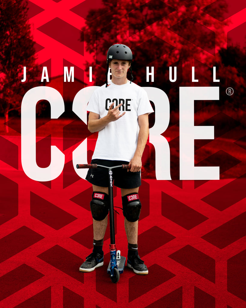 Jamie Hull Pro Scooter Rider joins CORE Protection