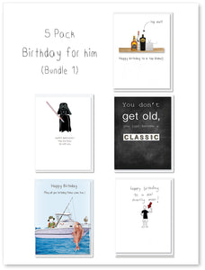 Birthday for him  - 5 pack