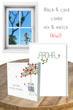 Load image into Gallery viewer, Kiwi mix & match block and card bundle