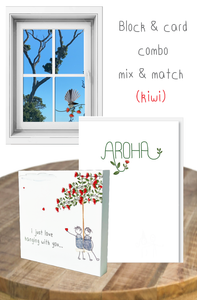 Kiwi mix & match block and card bundle