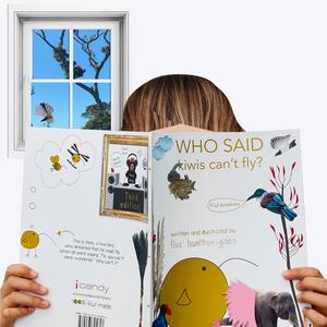 Who said kiwis can't fly book, block & card bundle