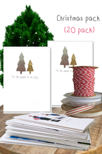 Load image into Gallery viewer, Christmas card bundle - 20 pack