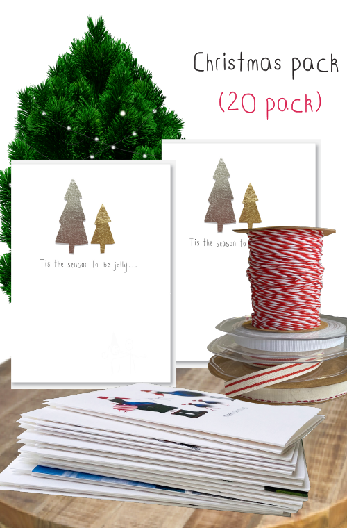 Christmas card bundle - 20 pack