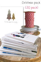 Load image into Gallery viewer, Christmas card bundle - 30 pack