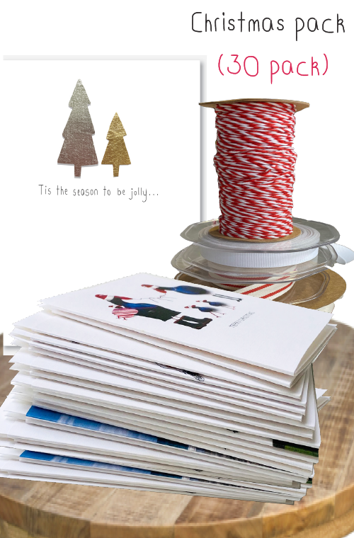 Christmas card bundle - 30 pack
