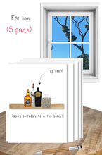 Load image into Gallery viewer, Birthday for him  - 5 pack