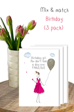 Load image into Gallery viewer, Birthday mix & match - 3 pack