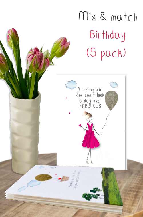 Birthday mix & match  - 5 pack