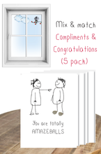 Load image into Gallery viewer, Compliments & Congratulations mix & match  - 5 pack