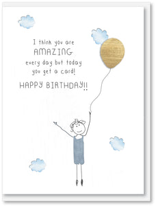 Today you get a card - Birthday