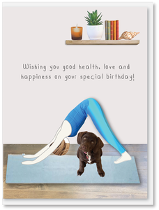 NEW Birthday -  Downward dog