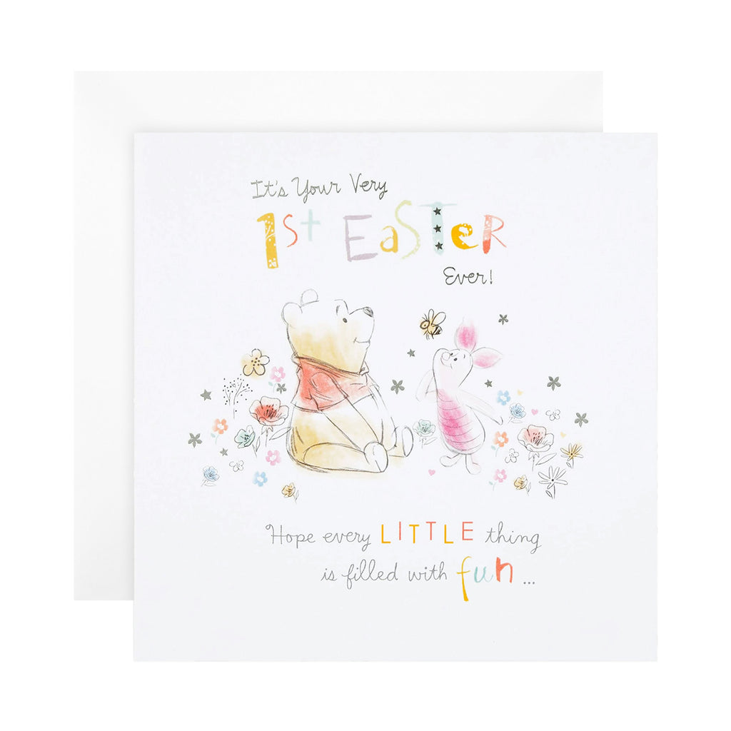 1st Easter Card - Cute Disney Winnie-the-Pooh Design