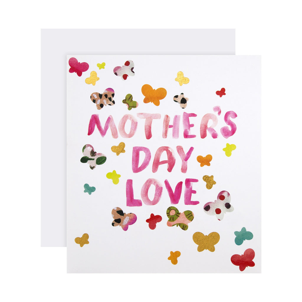 100% Recyclable Mother's Day Card - Contemporary Butterfly Design