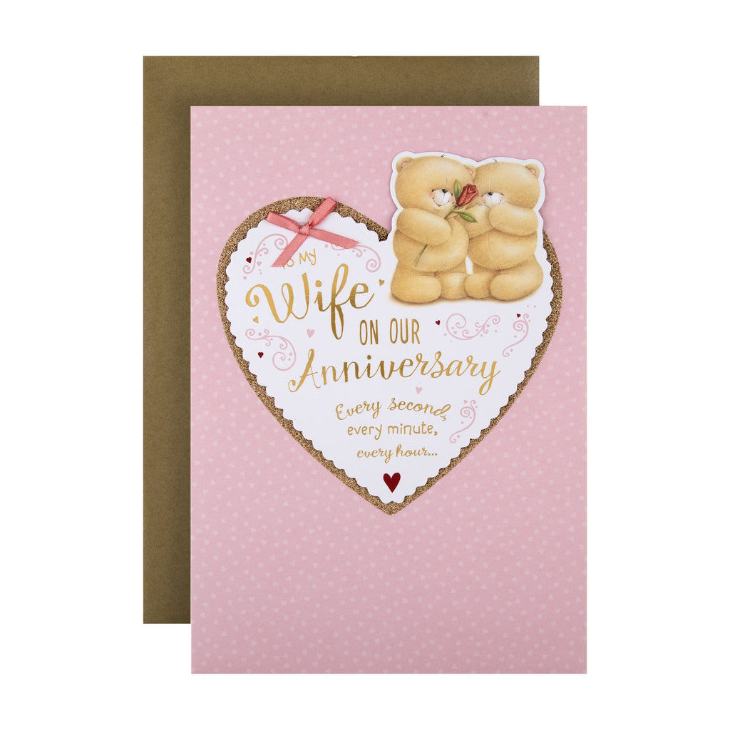 Anniversary Card for Wife from Hallmark - Cute Forever Friends Design