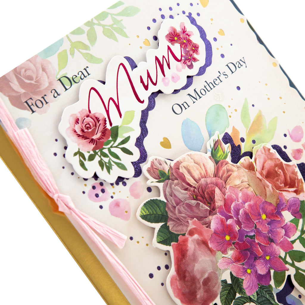100% Recyclable Mother's Day Card for Mum - Traditional Floral Design