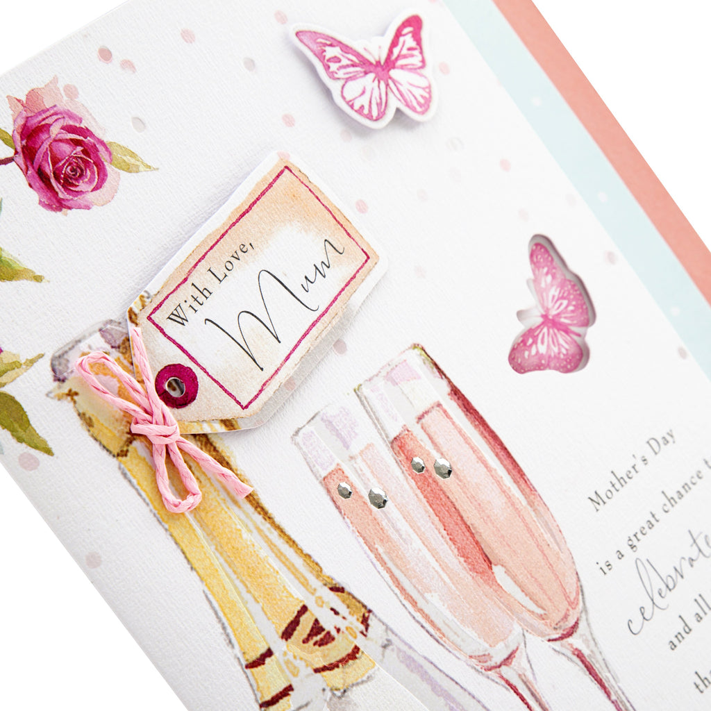 100% Recyclable Mother's Day Card for Mum - Classic Lucy Cromwell Design with 4-Page Insert