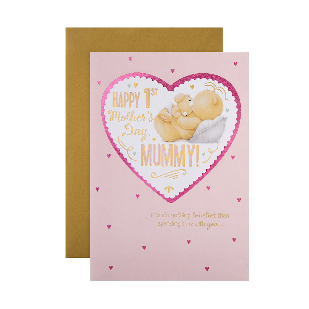 100% Recyclable 1st Mother's Day Card for Mummy - Cute Forever Friends Design