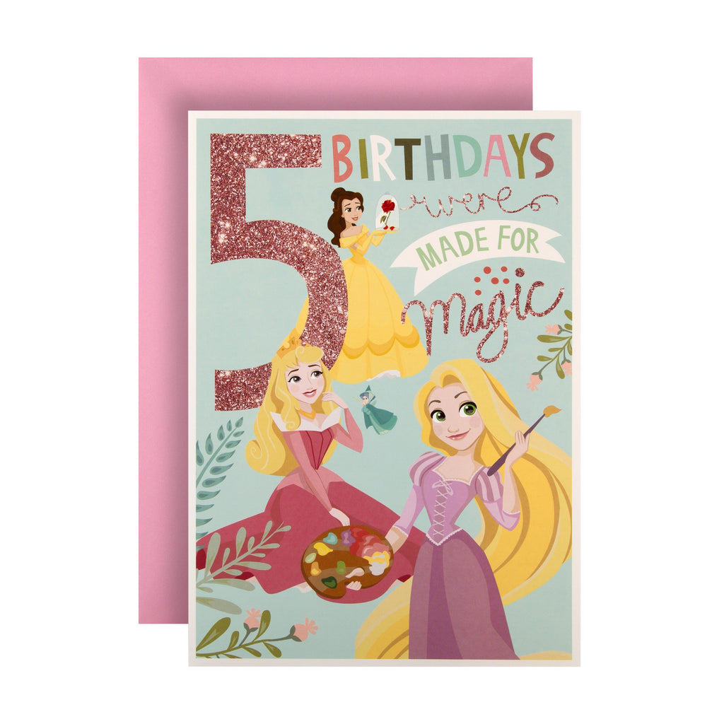 5th Birthday Card from Hallmark - Disney Princess Design