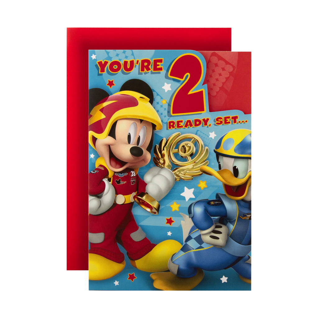 2nd Birthday Card from Hallmark - Disney Mickey Mouse Design