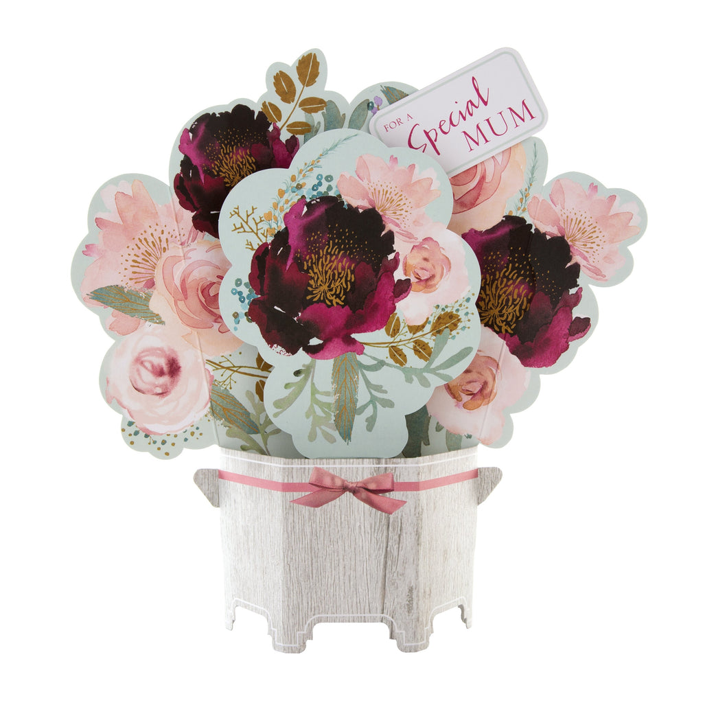 Mother's Day Card for Mum - Pop-up 3D Bouquet Design
