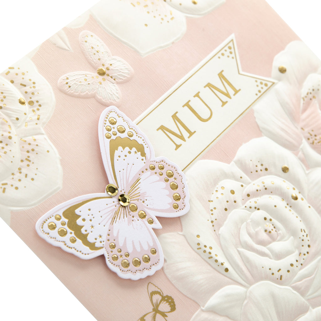 Mother's Day Card for Mum - Elgant Embossed Design