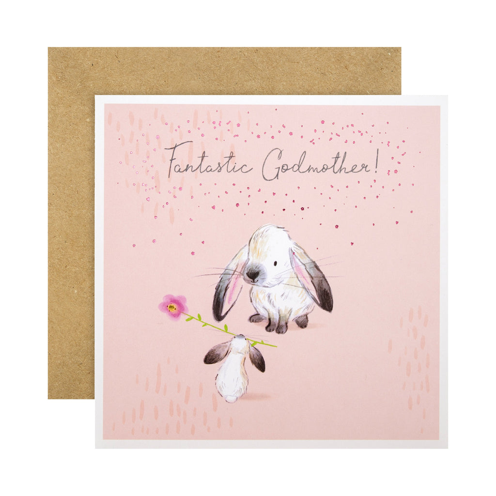 Mother's Day Card for Godmother - Cute Illustrated Design