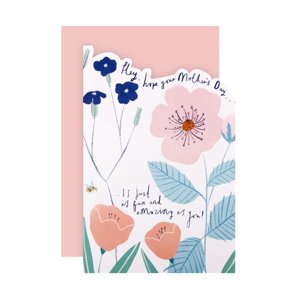 100% Recyclable Mother's Day Card - Die-cut Floral Design