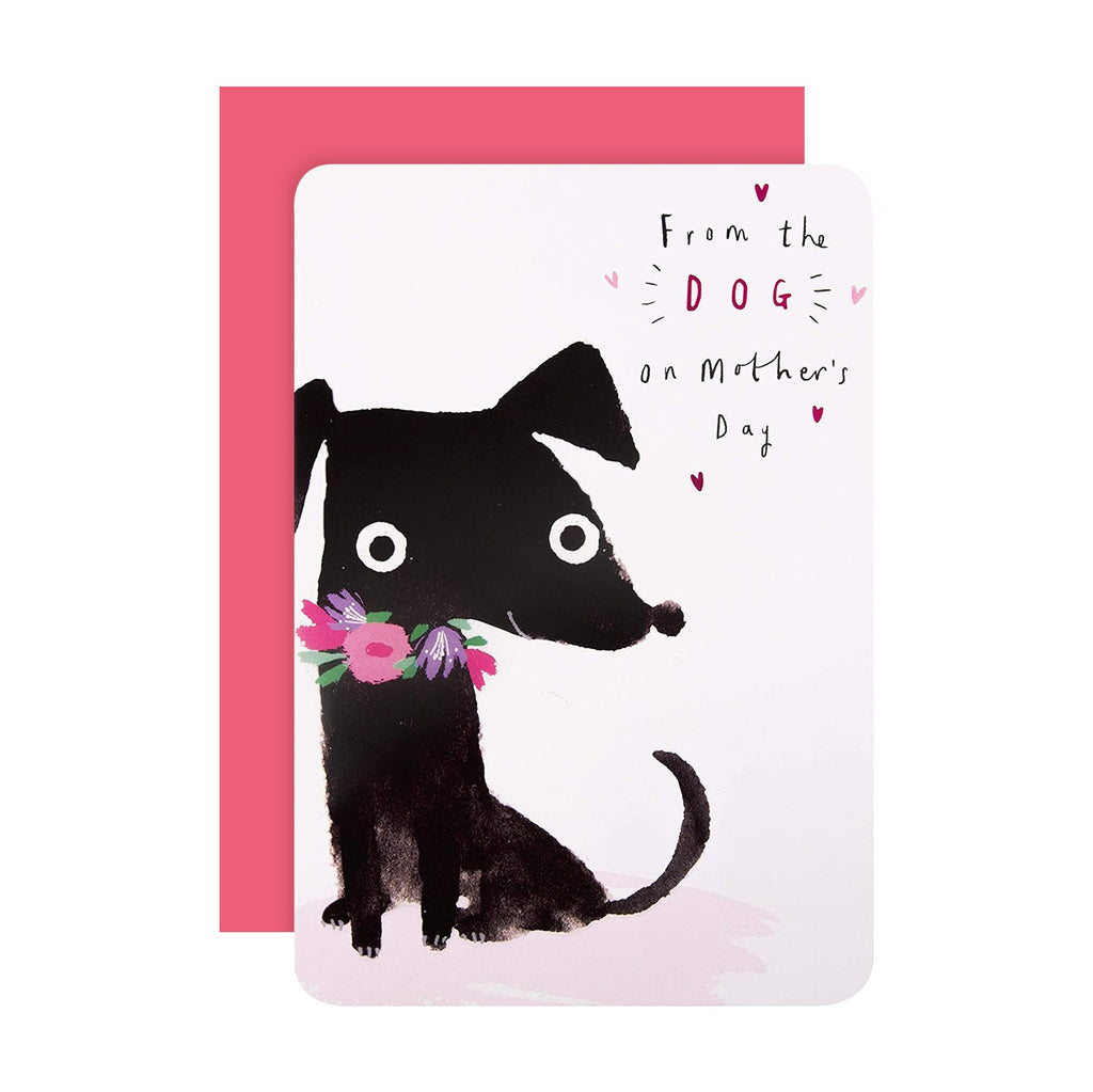 100% Recyclable Mother's Day Card from the Dog - Cute Embossed Design