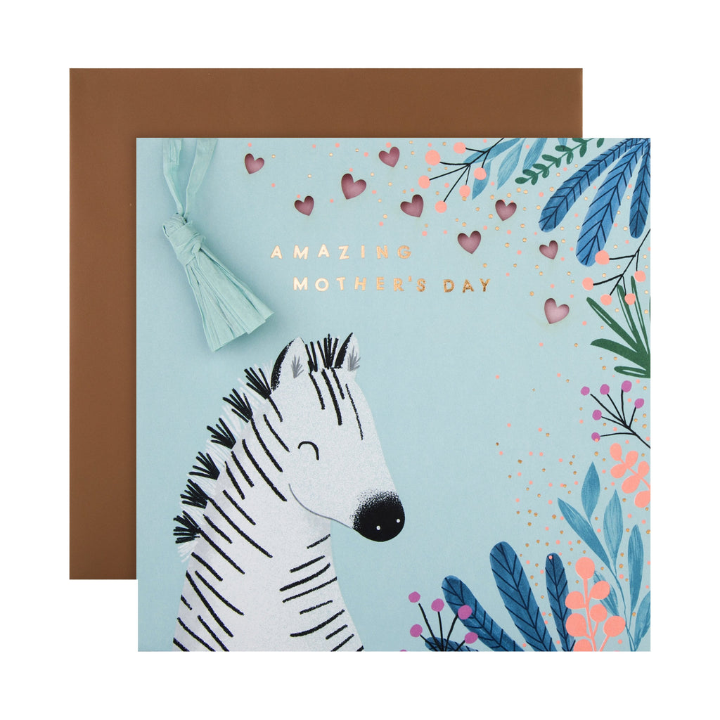 100% Recyclable Mother's Day Card - Contemporary Embossed Design