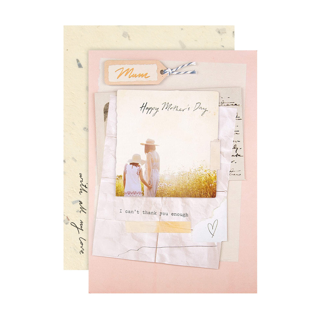 100% Recyclable Mother's Day Card for Mum - Scrapbook Style Design