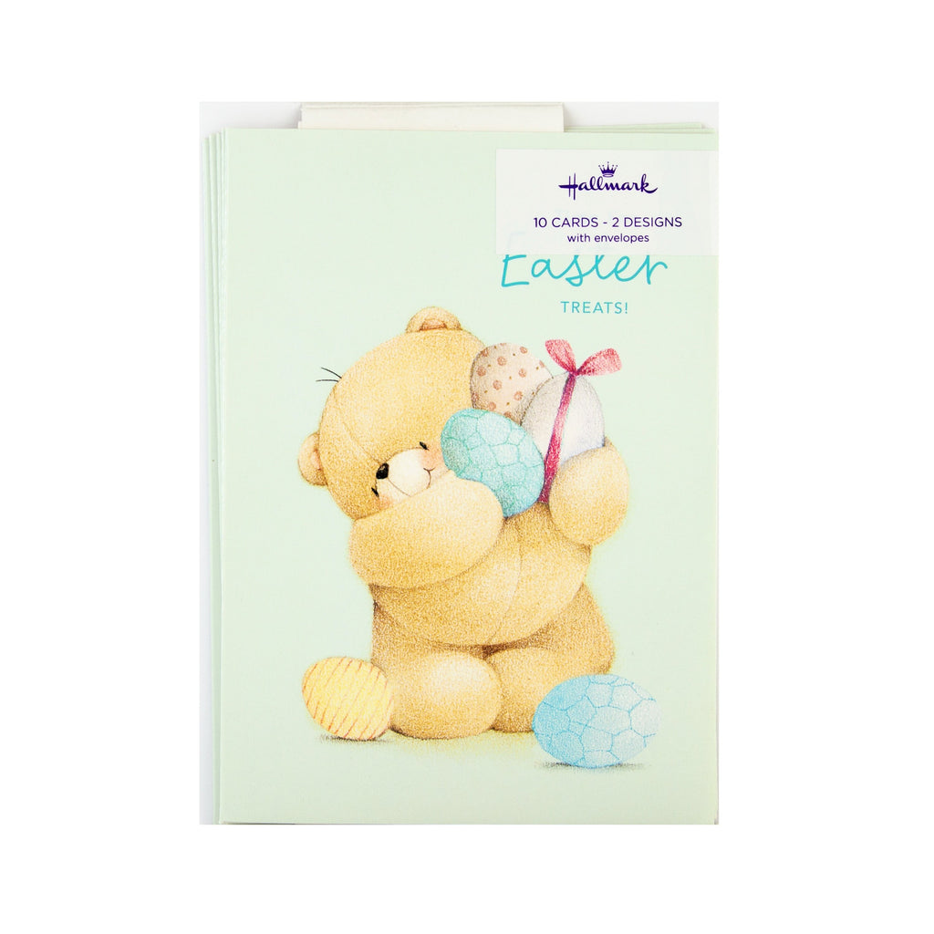 Pack of Easter Cards - 10 Mini Cards in 2 Cute Forever Friends Designs