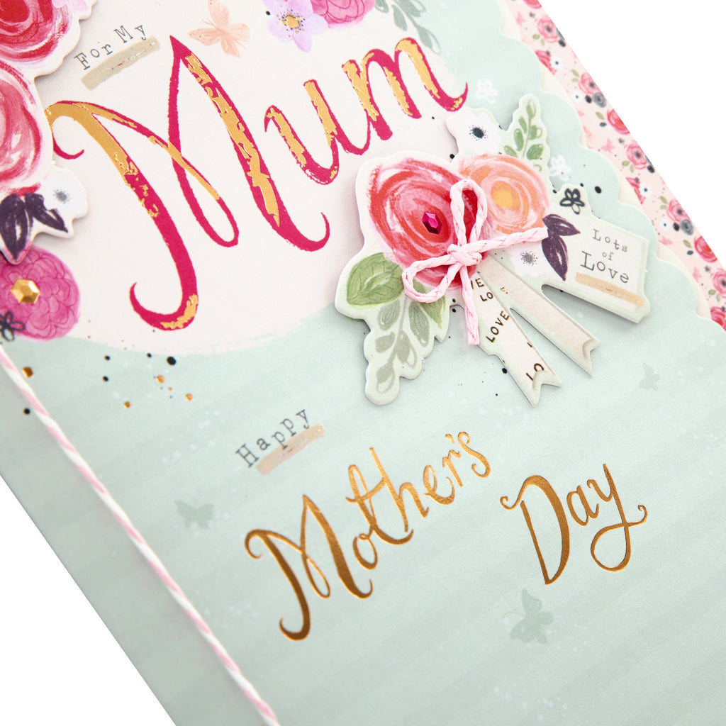 100% Recyclable Mother's Day Card for Mum - Classic Floral Design